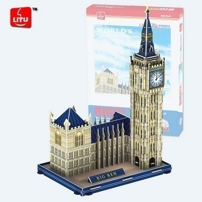 Educational toy London Big Ben 3d jigsaw puzzle assembly model paper famous building game creative kids