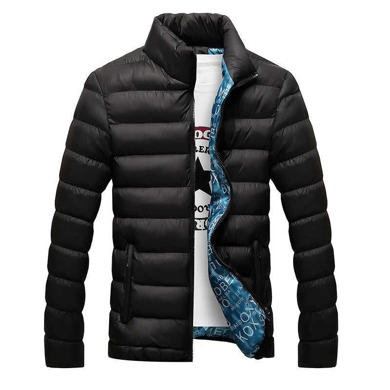 2019 新冬ジャケットパーカー男性秋冬暖かい生き抜くブランドスリムメンズコートカジュアルウインドブレーカーキルティングジャケット男性 M-6XL
