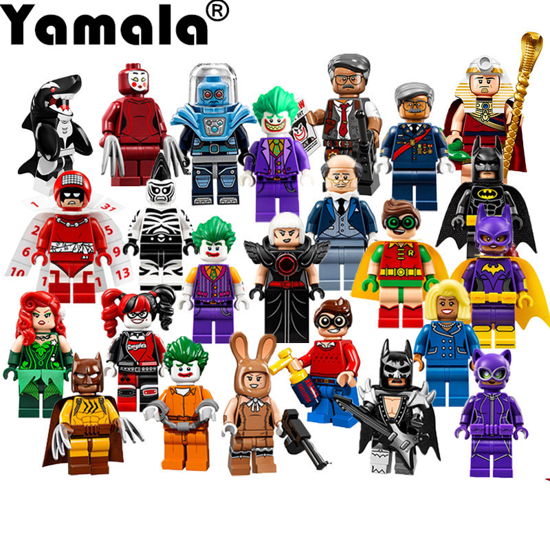 [Yamala] 1 Pcs Super Heroes DIY Blocks Avengers Justice League Model Building Blocks Compatible With Legoingly Batman