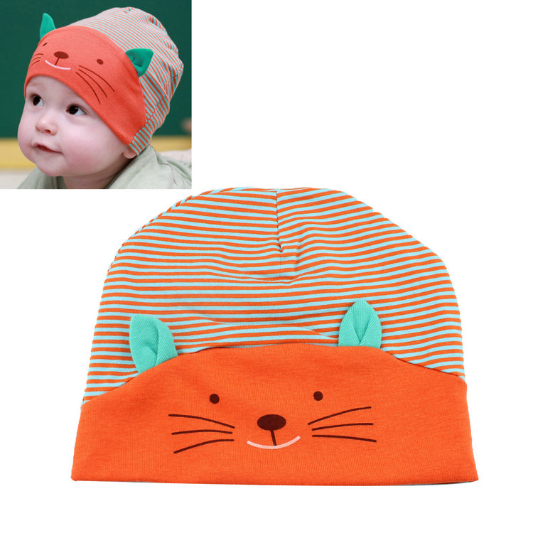2b715e1105d 2017 Hot Sale Soft Cotton Baby Hat Lovely Cat Stripe Beanie Winter Toddler  Infant Newborn Kids Cap Boys Girls Hat Accessories – Chompot