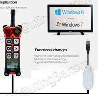Uting software telecontrol e programa cabo transmissor para mudar a função para transmissor e receptor