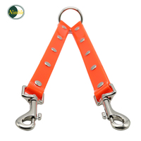 NIMBLE Pet Leashes 1 For 2 25CM Tangle free PVC Dog Leash Pull Connector for Pets Management Waterproof Dog Chest Strap