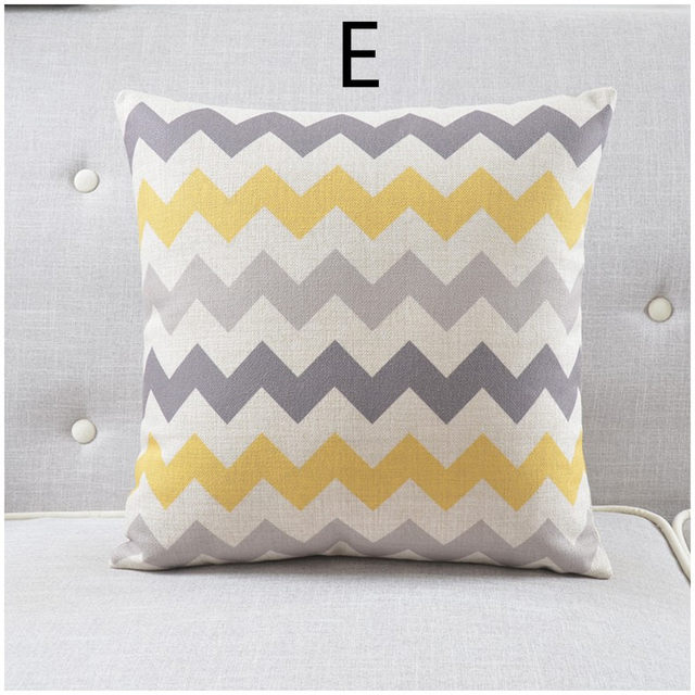 Online Shop Maiyubo Geometric Wave Cushion Cover Eye Relax Pattern Extraordinary Relax Decorative Pillow