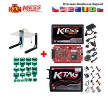 KTAG V7.020 Master K TAG 7.020 KESS V2 5.017 Red PCB Euro ECU Chip Tuning Tool K TAG Full Adapters OBD2 ECU Programmer