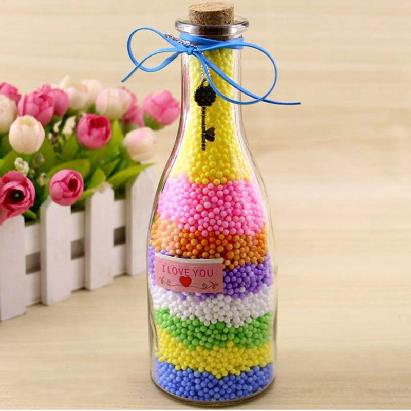 2.5 3.5mm Colored Round Foam Balls Crystal Bottle