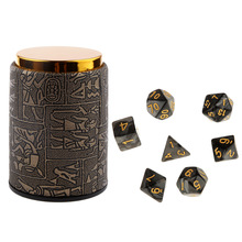 7pcs Polyhedral Dice for Dungeons and Dragons DND Dados RPG MTG Board Game D20 D12 D10 D8 D6 D4 Mixed Color Dice Set & Dice Cup цены онлайн