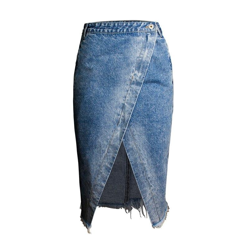 Skirt of female skirt hairline furl furl to wrap hip bull-puncher skirt irregular tassel tall waist skirt of halter MIDI skirt (17)