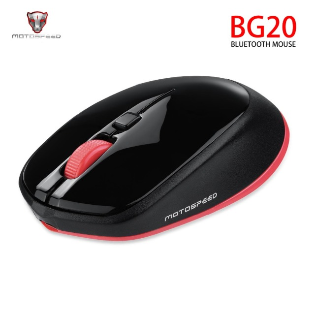 Original Motospeed BG20 Wireless Bluetooth Mouse  2.4G Mini Optical Mouse 2400 DPI 5 million 4000 FPS 10m with USB Cable