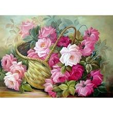 5D DIY Diamond Painting Flowers of Basket cross stitch kits diamond embroidery Lilac mosaic Magic cube