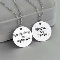 """Romantic Movie Jewelry Grey's Anatomy Necklace """"you are my person"""" Women Man Lover Jewelry Pendants Valentine's Day Gifts"""