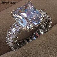 Choucong Роскошные Принцесса cut кольцо 925 пробы серебро 6ct AAAAA cz обручение обручальное кольца для женщин Свадебные палец ювелирные изделия