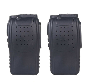 2PCS Silicone Rubber Cover bumper BF-888S Case for baofeng 888s walkie talkie 888 Retevis H777 H-777 two Way cb Radio Holster
