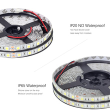 Водонепроницаемый RGB светодиодные ленты 12v 24v SMD 5050 5M светодиодные полосы света RGB RGBW RGBW