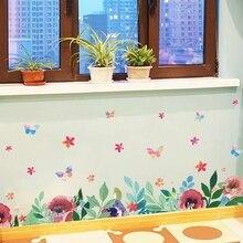 YOUMAN DIY цветочная граница обоев для стен самоклеющиеся обои ПВХ винил обои современный домашний декор детские настенные наклейки в комнату
