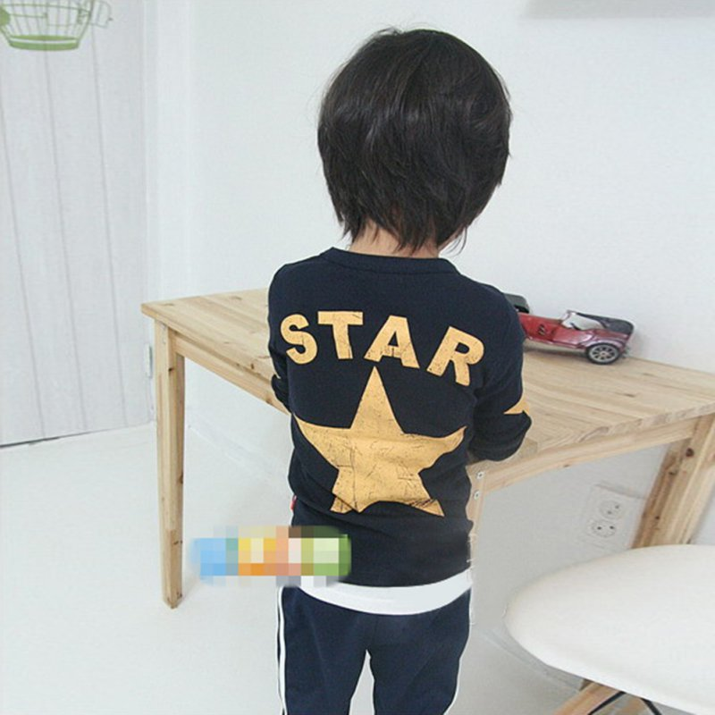 Kids-Boy-Toddler-Baby-Star-Pattern-Long-Sleeve-Tops-T-shirt-Shirt-Outfit-Clothing-5