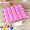 Lollipop Pop 20 Holes Mould Silicone Round Shape Party Cake Cookie Candy Chocolate Maker Baking Tool Tray