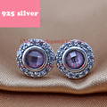 PJE008 Free Shipping fashion women earrings with purple crystal,earring luxury jewelry.Valentine's Day gift