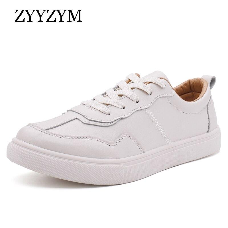 ZYYZYM/мужская повседневная обувь; Сезон весна-лето 2020 года; Однотонная простая обувь из искусственной кожи; Мужская дышащая модная обувь на шн...