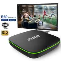 R69 Smart TV Box Android 7.1 1GB 8GB IPTV H3 Quad-Core WiFi 2.4GHz 1G8G Set top Box 1080P HD di Sostegno 3D film Media player