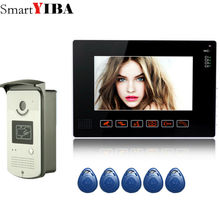 SmartYIBA Wired Home Security 9 inch Color Video Intercom DoorPhone System 1 Monitor 1 Night Vision Doorbell Camera