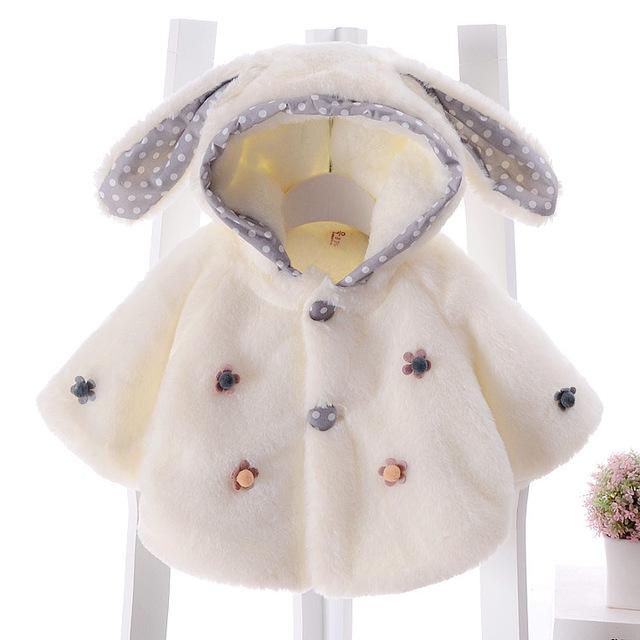 0-2 year-old bebê recém-nascido manto Flor Meninas Do Bebê inverno casaco de inverno fora blusão xale princesa ao ar livre Roupas capa