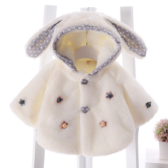 0-2 year-old infant newborn cloak Baby Girls Flower winter winter coat out windbreaker shawl princess outdoor cape Clothing