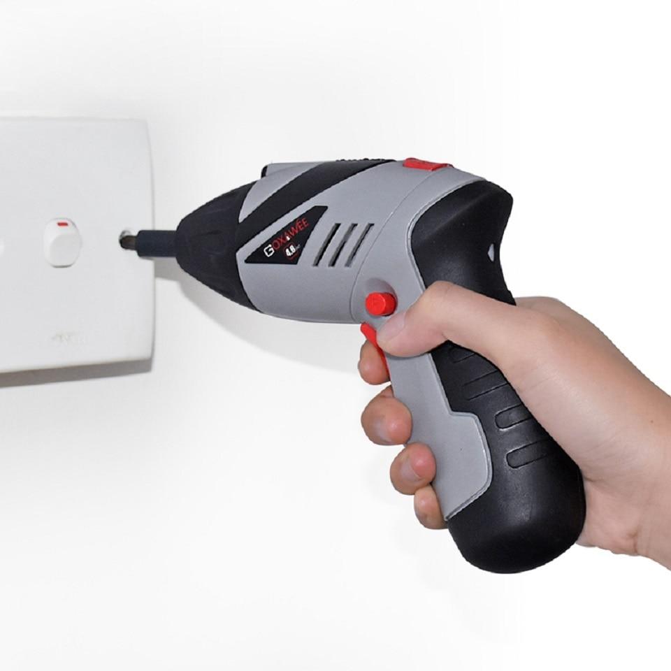 4,8 V juhtmeta mini elektrikruvikeeraja majapidamises laetav - Elektrilised tööriistad - Foto 4