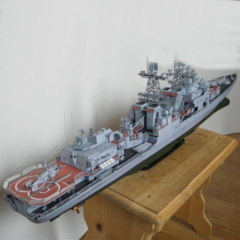 Modelo de Papel DIY 82 cm Harlem Rússia Dreadnought missile destruidor Almirante Liefuqinke Pepercraft Navio Divertimentos Presentes