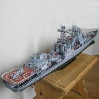 Modelo de papel diy 82 cm harlem rússia dreadnought míssil destruidor almirante liefuqinke pepercraft navio funs presentes|Kits de modelo de construção| |  -