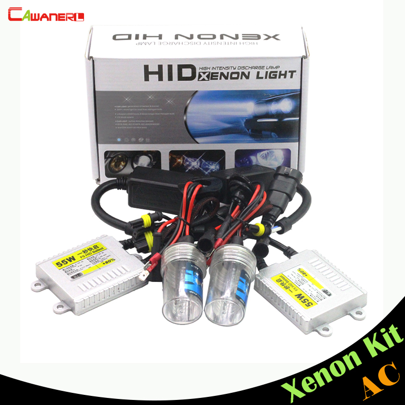 Cawanerl 55W Xenon Kit HID Ballast Bulb AC 12000K Car Headlight Fog Light DRL 9005 HB3 H10 9006 HB4 880 881 H1 H3 H7 H8 H9 H11 10sets xenon hid kit h1 h3 h7 h8 h10 h11 9005 9006 dc 12v 35w xenon bulb lamp digital ballast car headlight j 4470