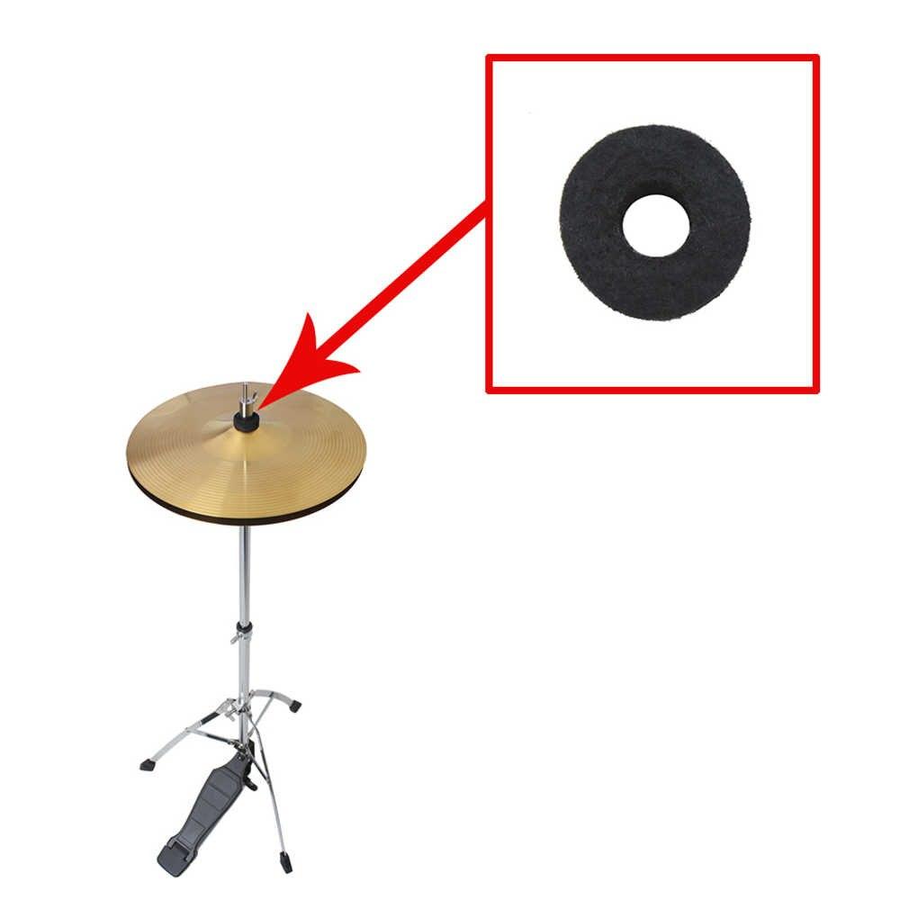 10 stks/partij Cimbaal Stand Drum Vilt Wasmachine Pad Vervanging Ronde Zachte Zwart voor Drum Set Bekkens