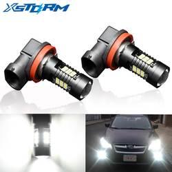 2 шт. H8 H11 LED HB4 9006 HB3 9005 туман лампочка 1200LM 6000 К белый вождение автомобиля днем Бег лампа авто светодиоды 12 В 24 В