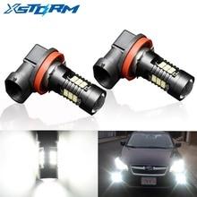 Farol automotivo de luz branca para neblina, lâmpadas de LED 12V 24V, 2 peças, H8 H11 HB4 9006 HB3 9005 3030SMD 1200LM 6000K