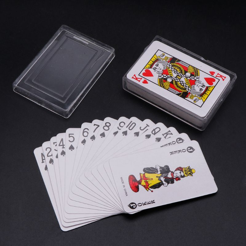 NoEnName_Null High Quality Texas Hold'em Mini Poker Home Decoration Travel Portable Playing Card Board Game