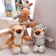 Soft Lion Tiger Plush Toy Stuffed Giraffe Toys For Childrens Bed