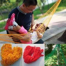 240*80cm Outdoor Hammock 9 Strands Nylon Rope Mesh Hammock Portable Leisure Swing Hanging Nap Bed(China)