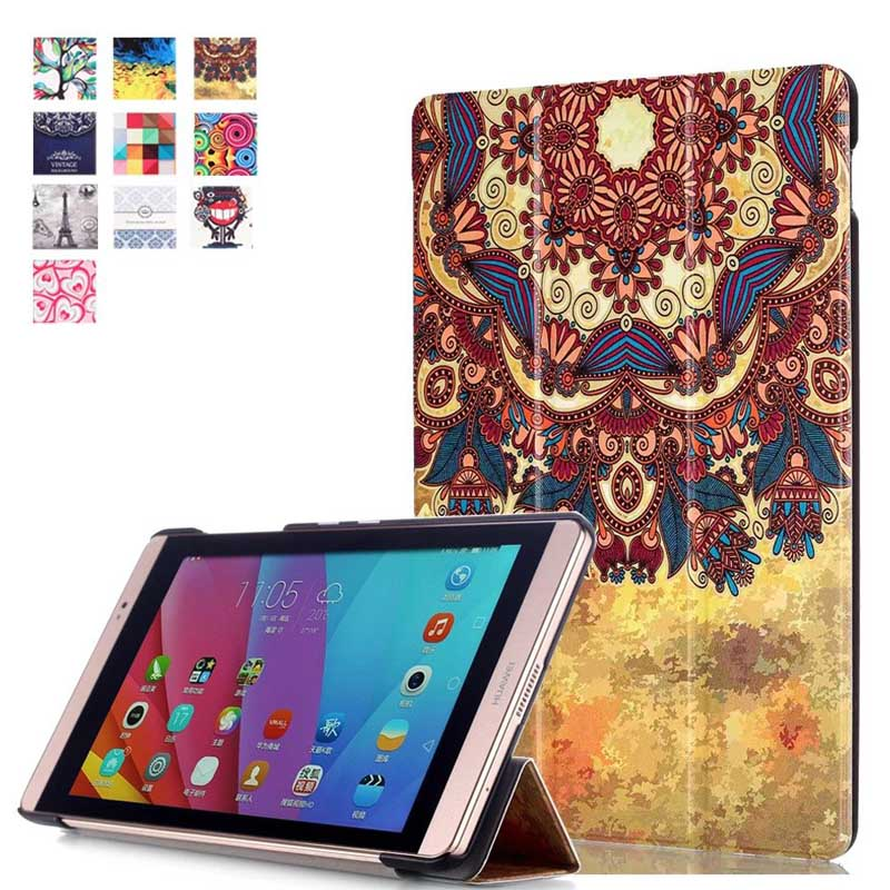 high quality Painted Magnet Ultra thin Smart pu leather Case cover For Huawei MediaPad M2 8.0 M2-801W M2-803L tablet case for mediapad m2 ultra thin smart filp pu leather case cover for huawei mediapad m2 7 tablet case stand cover protective stand