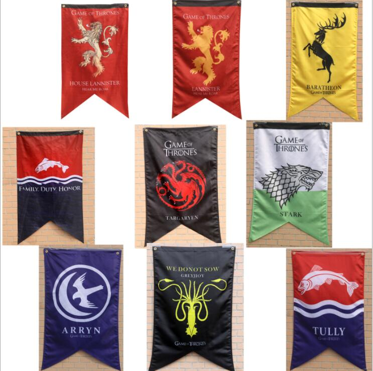 Costume Props Game Of Thrones Banner Flag Winter Is Coming Fire Blood Stark Targaryen Lannister  Home Decor Flag