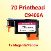 1x compatível para 70 C9406A Magenta/Amarelo Da Cabeça de Impressão compatível para hp70 Z3100 Z5200|printhead for hp|hp 5200|hp 70 -