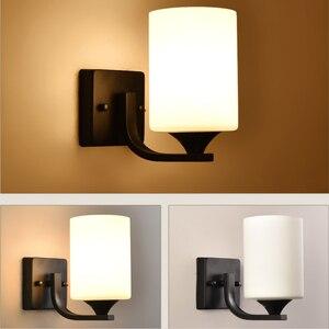 Image 2 - HGhomeart Vintage Wall Light Luminaria Bedside Reading Lamp LED E27 bulb Retro Wall Lamp Bedroom Wall Lighting Contemporary
