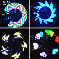 BEGINAGAIN DIY Fahrrad Rad Lichter 32 FÜHRTE Speichen 20 Muster Stile True Color Bike Blitzlampe Radfahren Warnung Lampe