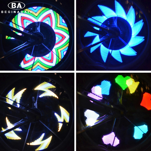 BEGINAGAIN DIY Fiets Wiel Verlichting 32 LED Lichtmetalen 20 Patroon ...