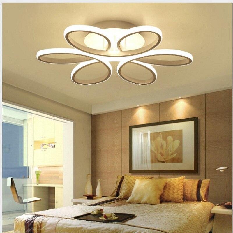 Plafond moderne à LEDs lumières luminaire lampe moderne salon chambre cuisine Surface montée AC85-265V lampe moderne