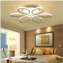 Plafond moderne à LEDs lumières luminaire lampe moderne salon chambre cuisine Surface montée AC85 265V lampe moderne