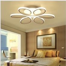 מודרני led תקרת אורות תאורה קבועה מודרני מנורת סלון חדר שינה מטבח צמודי AC85 265V מודרני מנורה