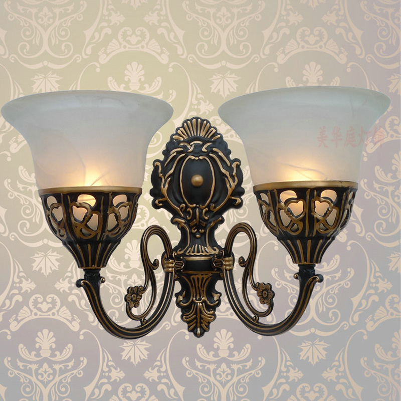 A1 Special offer European style wall lamp Antique Iron Lamp bedside bedroom living room mirror retro aisle wall FG372 LU1017