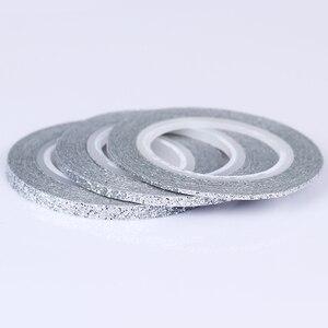 Image 5 - 13/10/8/4Pcs Matte Glitter Nail Striping Tape Set Line Nail Sticker Colorful 1mm 2mm 3mm Nail Art  DIY Adhesive Stickers