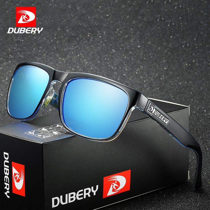 DUBERY Polarisierte Flieger-sonnenbrille männer Vintage Männlichen Bunte Sonnenbrille Für Männer Mode Marke Luxus Spiegel Shades Oculos