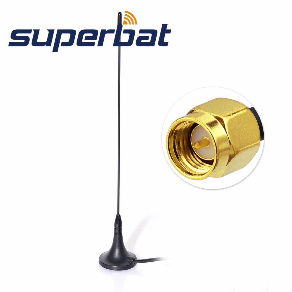 Superbat DAB/DAB+ Car Radios Aerial for Magnetic Mount DAB Aerial of SMA Male Plug Connector 4m Cable