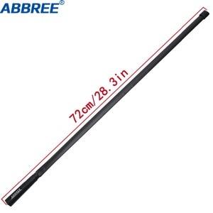 Image 2 - Abjessie conector macho de banda Dual, antena táctica plegable para Yaesu TYT Wouxun Walkie Talkie, 72cm/28,3 pulgadas de longitud, 144/430Mhz